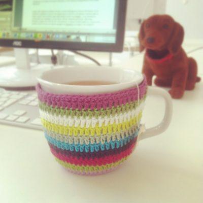 Tassenmanschette Für Tasse Mit Henkel Und Dackel Gemacht Mit Liebe