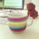 Tassenmanschette für Tasse mit Henkel (und Dackel)