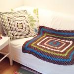 Eine Grannysquare-Decke für den Kater