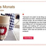 Gemacht mit Liebe Blog des Monats bei Mollie Makes
