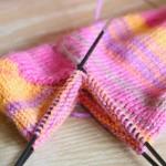 Auf der Nadel: Socken mit Bumerangferse