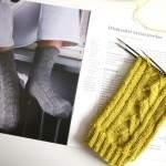 Auf der Nadel: Socken mit Fächerstreifen