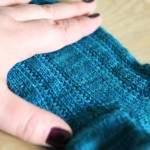 Socken mit Hebemaschenmuster stricken