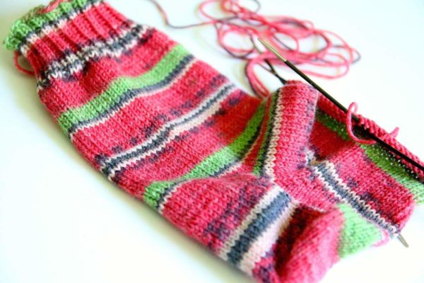 Socken stricken mit Austermann Step 4