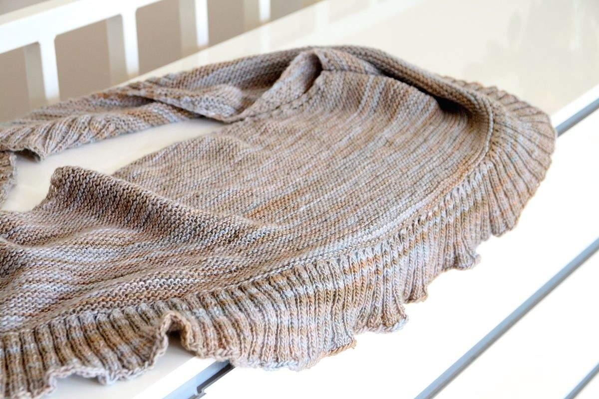 Halbrundes Tuch mit Rippenborte 4