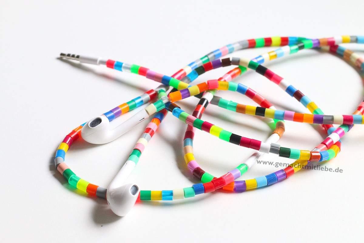 Kabel verschönern mit Bügelperlen
