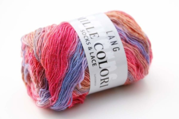 Mille Colori Socks and Lace Wildrose