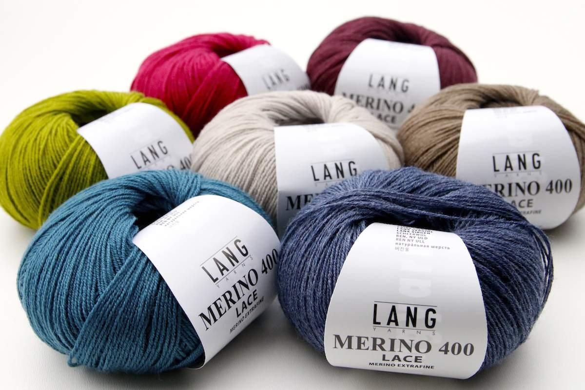 Langyarns Merino 400 Lace Farben