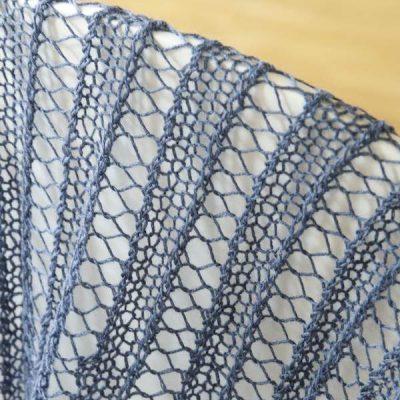 Strickset Laceschal Linda Detail