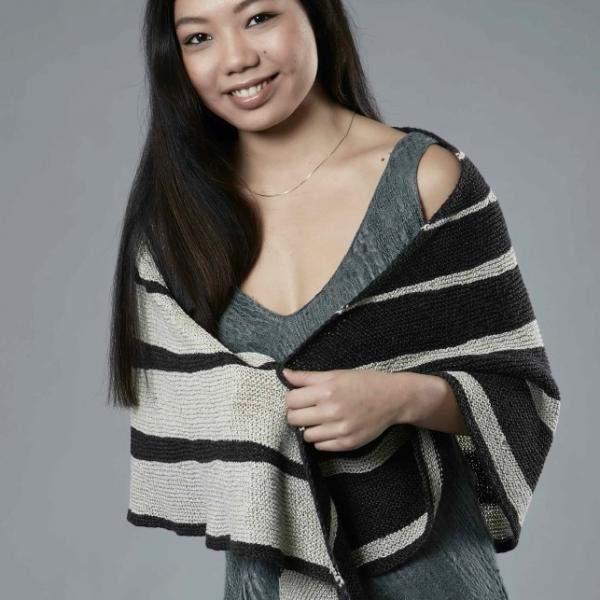 Karen Noe Striped Shawl