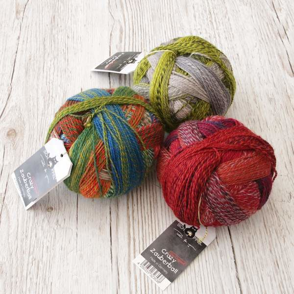 Crazy Zauberball 100g Schoppel Farbe 2311 Route 66  Wolle Sockenwolle