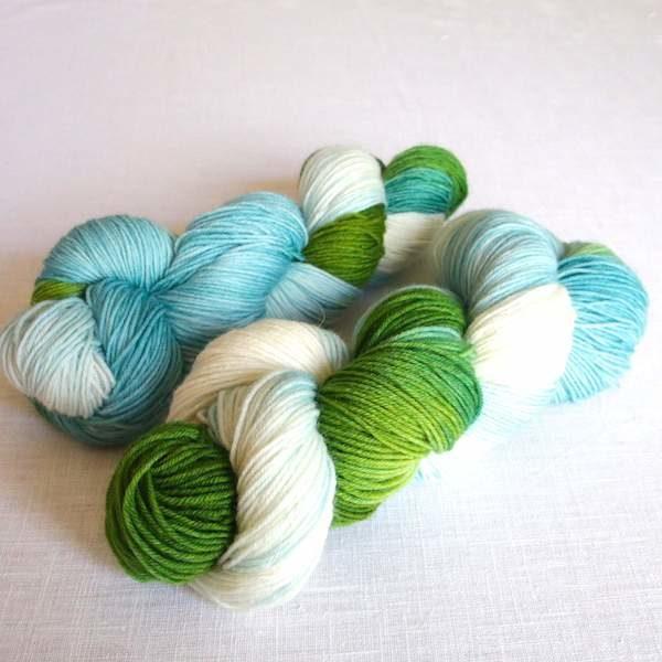 Sockenwolle HImmel und Wiese