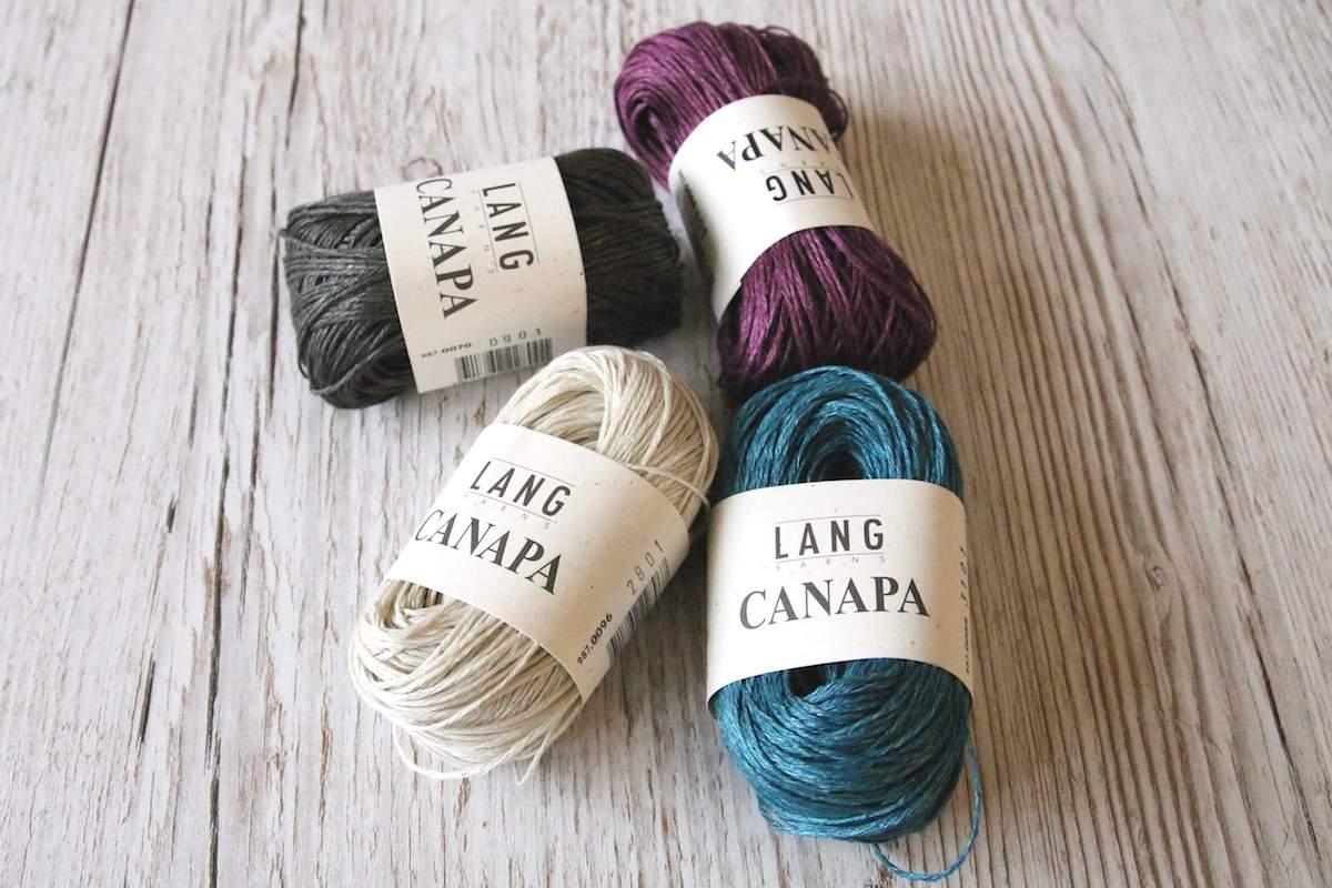Stricken mit Hanfgarn mit Canapa von Lang Yarns aus 100