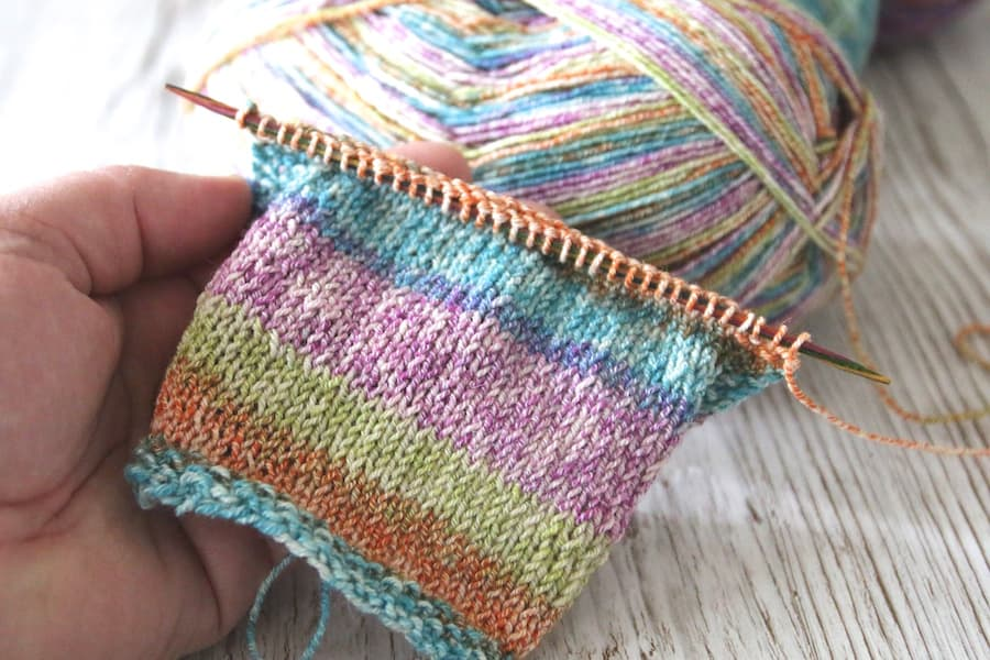 Sockenwolle mit Baumwolle von Rellana