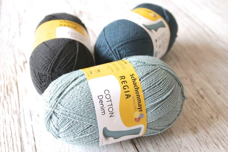 Sockenwolle mit Baumwolle von Schachenmayr