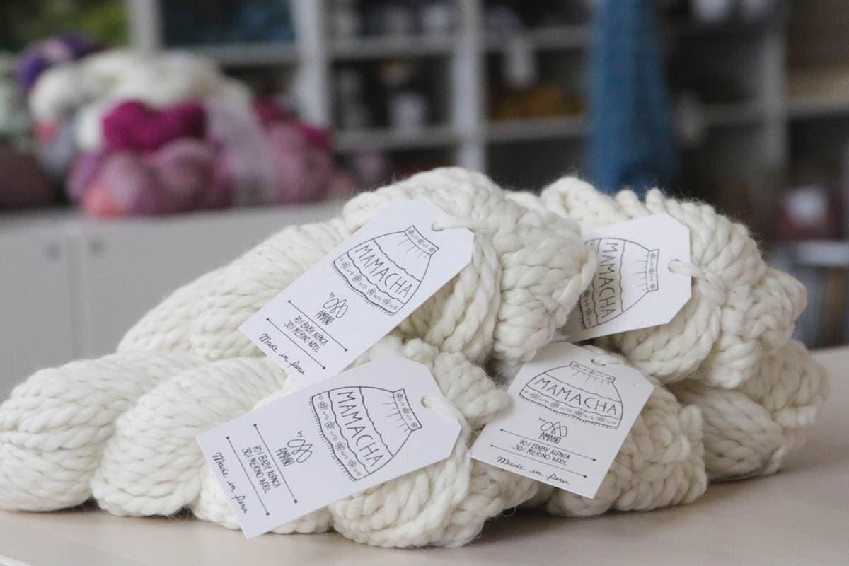 Stricken mit dicker Wolle