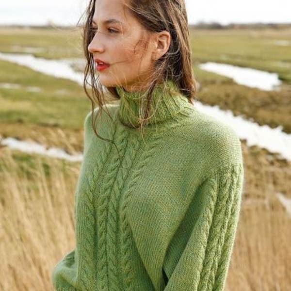 Pullover mit Zopfmuster mit Amano Puna
