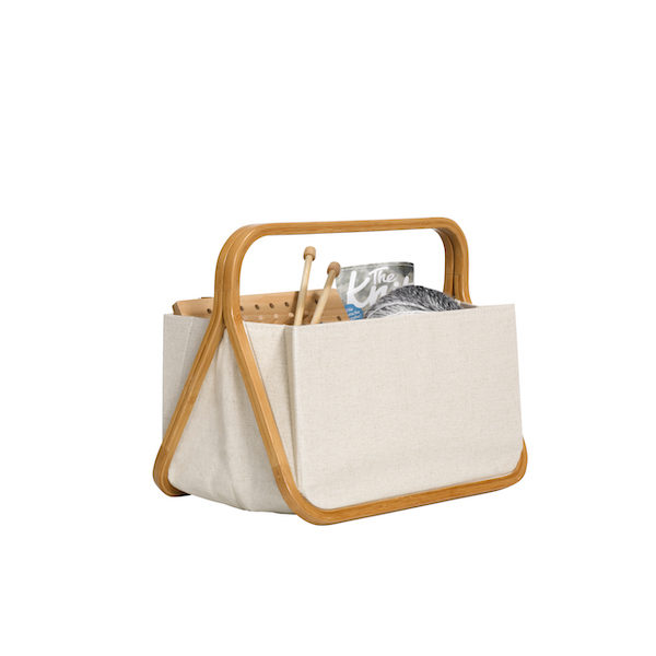 Prym Canvas and Bamboo Fold and Store Basket