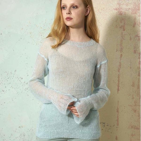 Luftiger Pullover – Strickkit mit Lang Yarns Lace