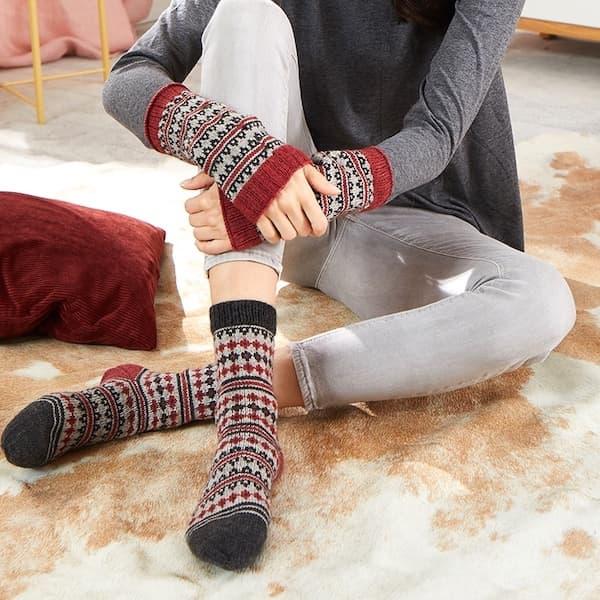 egia Premium Yak Socken mit Jacquardmuster 2