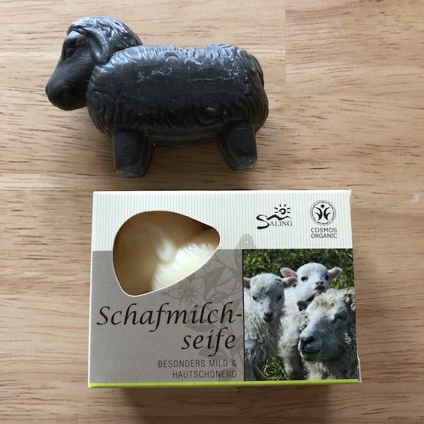 Saling Schafmilch-Seife Schwarz