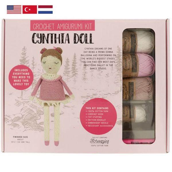 Tuva Haekelkit Cynthia Doll