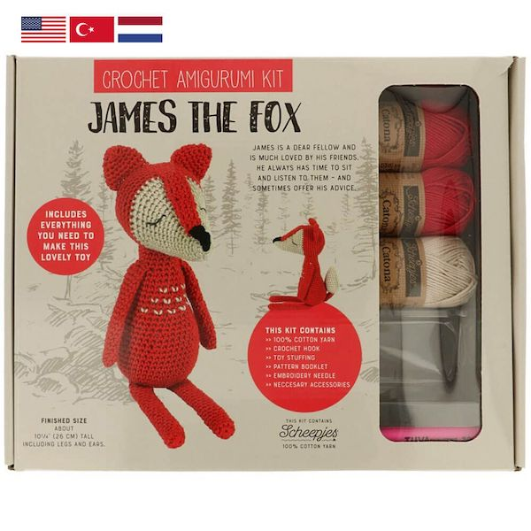 Tuva Amigurumi Häkelkit – James the Fox