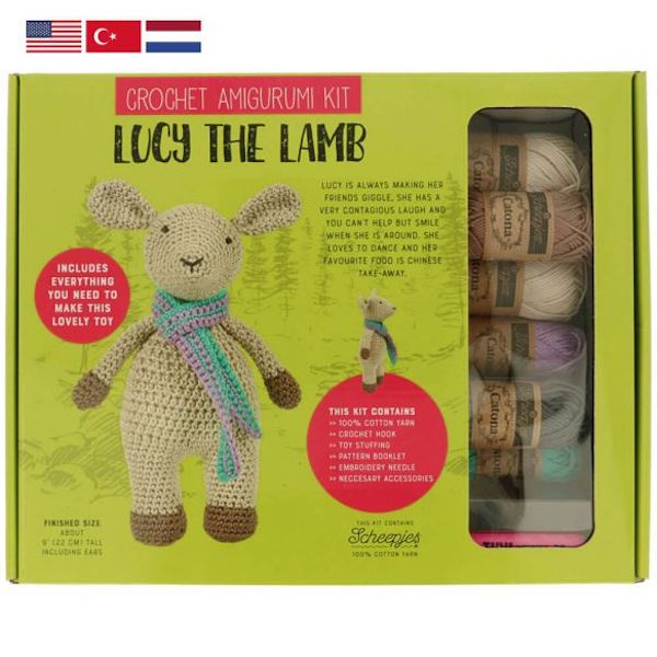 Tuva Haekelkit Lucy the Lamb