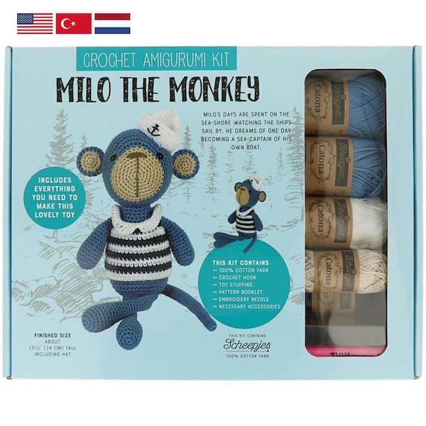 Tuva Haekelkit Milo the Monkey