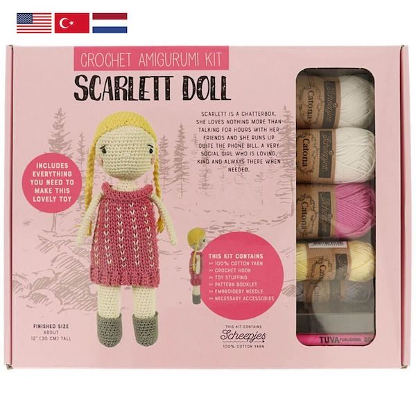 Tuva Haekelkit Scarlett Doll